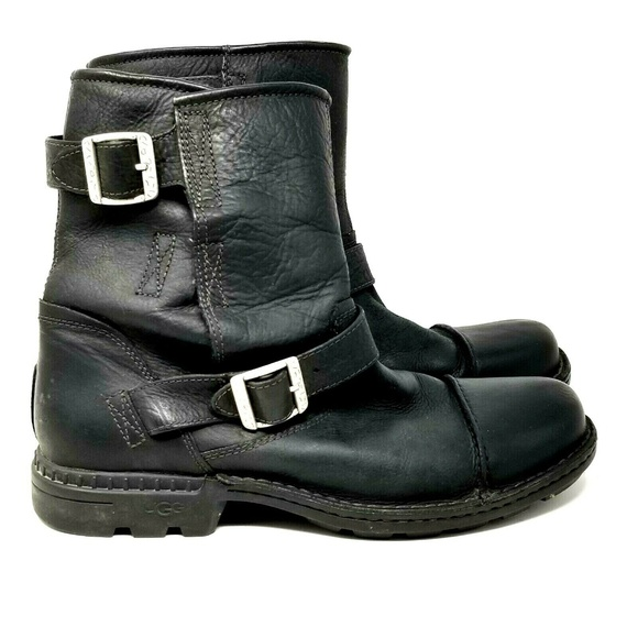 UGG Australia Shoes - Ugg f8009g leather boots womens size 11 black